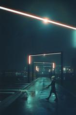 gates (miemo) Tags: cinestill cinestill800t europe finland suvilahti analog analogue city dog film helsinki kalasatama lights night outdoors park person rain rangefinder urban wet woman yashica yashicaelectro yashicaelectro35