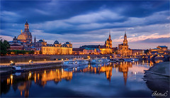 View of Dresden, Germany (AdelheidS Photography) Tags: adelheidsphotography dresden germany deutschland elbe bluehour river view city evening canoneos6d