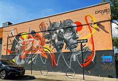Life in Four Dimensional Space by Caratoes (wiredforlego) Tags: graffiti mural streetart urbanart aerosolart publicart williamsburg brooklyn newyork nyc ny caratoes