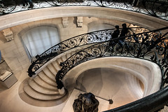 Stairs, Petit Palais - Paris, France (pas le matin) Tags: escalier stairs marche petitpalais travel step voyage paris france europe europa people architecture building stone pierre stonework marbre marble canon 350d canon350d canoneos350d eos350d