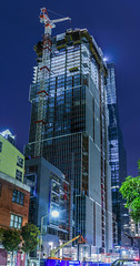 500 folsom progress 1.19.19 (pbo31) Tags: sanfrancisco california nikon d810 color night dark black january 2019 boury pbo31 city construction financialdistrictsouth folsomstreet urban roadway panorama large stitched panoramic contemporary architecture blue