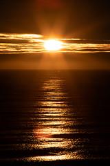 Sunrise over the North Sea (PeskyMesky) Tags: aberdeen aberdeenbeach sunrise sunset water sea ocean red cloud sky scotland landscape flickr 2018 december canon canon5d