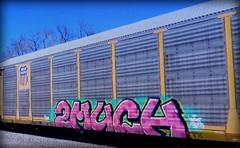 (timetomakethepasta) Tags: 2much freight train graffiti art up union pacific autorack