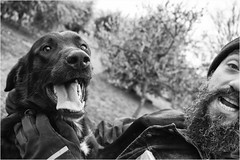lovers (andaradagio) Tags: andaradagio bianconero bw canon dog cane miglioramicodelluomo nadiadagaro rifugioohana bandaa4zampeumbria littledoglaughedstories