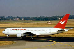 TC-ASK   Boeing 767-269ER [23280] (Birgenair) Dusseldorf Int'l~D @ 01/04/1996 (raybarber2) Tags: 23280 airliner airportdata brokenup cn23280 cancelled eddl flickr flickrdone johnbabbagecollection planebase slide tcask turkishcivil