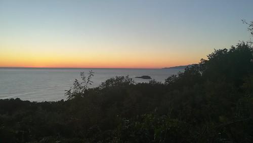 The nightfall in Marina of Maratea