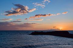 TorreArchirafiAlba-13 (JoySadaro) Tags: alba arancio blue cloud dawn mare nuvole orange sea sun