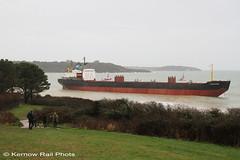 Kuzma Minin - 4 (Kernow Rail Phots) Tags: kuzmaminin russian 16000 ton cargo ship freighter falmouth cornwall kernow 18122018 gales rain heavyseas ap tugs ships boats pendennis castle