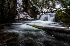 Winter Begins (Joshua Johnston Photography) Tags: sonya7iii variotessartfe2470mmf4zaoss mounthoodnationalforest joshuajohnston waterfall landscapephotography nature water