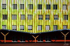 Lutterbach_1018-14-3 (Mich.Ka) Tags: lutterbach alsace architecture building color couleur façade graphic graphique géométrique industrialdesign ligne line mur urbain urban wall école