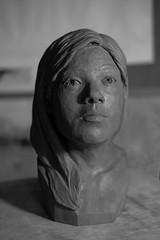 Neesha finished (KatyMag) Tags: keithgilbertsculptor ceramic clay ceramicsculpture portrait artwork originalart fujifilm