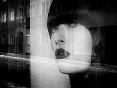reflection (Sandy...J) Tags: olympus monochrom blackwhite bw black white reflection street streetphotography sw schwarzweis strasenfotografie spiegelung urban noir photography fotografie germany
