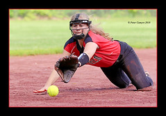 Anticipation (Peter Camyre) Tags: westfield varsity softball game player dive diving glove ball mask uniform action sport sports speed canon 1dx mkii peter camyre photography photographer may 2018 picture
