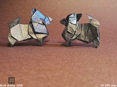 A5 Little dogs - Barth Dunkan. (Magic Fingaz) Tags: anjing barthdunkan chien chó dog ecorigami hond hund köpek origami origamidog paperfolding perro pies собака 犬 狗
