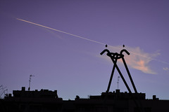 Storks in the city. (raidtxujones) Tags: lleida storks cigüeñas