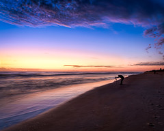 Photographing Flagler Beach (Ed Rosack) Tags: peoplephotography usa sand landscape calm existinglight water hires surf ©edrosack panorama florida lights beach ocean candid cloud sky seascape olympus flaglerbeach centralflorida sunrise cloudy dawn shore us edrosackcom