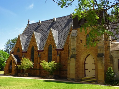 Forbes. St Johns Anglican Church. Began 1874 completed 1877. First wooden Anglican church built in 1861.