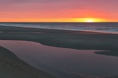 Those Morning Colors (matthewkaz) Tags: sunrise sky clouds puddle reflection reflections ocean atlanticocean water waves pink sand beach coast coastline shore shoreline myrtlebeach sc southcarolina 2018