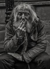 spoonman (Daz Smith) Tags: dazsmith fujifilmxt3 xt3 fuji city streetphotography people candid portrait citylife thecity urban streets uk monochrome blancoynegro blackandwhite mono bristol beard spoons