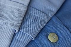 Cloth MacroMondays HMM! (M Chiara B) Tags: cloth macromondays shirt button blue macrophotography macro textile