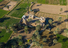 Aerial view of a traditional old mud house, Najran Province, Najran, Saudi Arabia (Eric Lafforgue) Tags: adobe aerialview agriculture arabia arabicstyle architectural architecture brick building buildingexterior builtstructure colorimage cultivatedland day drone farm field habitation horizontal house ksa middleeast midmakh mudbrick nopeople oasis oldbuilding oldhouse outdoors photography plamtrees saudiarabia saudi181969 travel traveldestinations village najran najranprovince sa