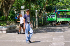 Passer By (Beegee49) Tags: street man walking pavement planet happy sony a6000 silay city philippines asia