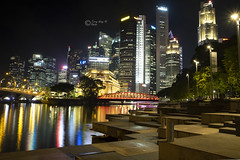 Fullerton Bay, Singapore (terrywongyl) Tags: fullerton bay financial district nightscape park long exposure reflection