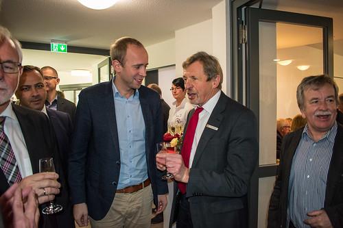In Rostrup war ich bei der Eröffnungsfeier der neuen AWO-Pflegeeinrichtung am Zwischenahner Meer mit Bürgermeister Arno Schilling. Foto: AWO-Bezirksverband Weser-Ems.
