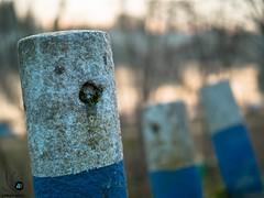 Concrete barf. (Bond...Adrian Bond) Tags: pole concrete