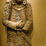 Royal Figure modeled and carved from stucco Iran Seljuq period mid-11th to mid-12th century CE thumbnail