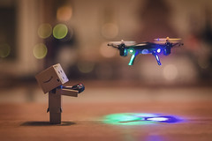 Drone. And drone. (Matt_Briston) Tags: danbo drone christmas present flying controller lights flight led boken robot matt cooper nikon d7000