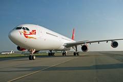 A340 (G-VBUS) Virgin (boeing-boy) Tags: mikeling boeingboy a340 virgin gvbus manston mse