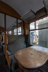 Train Yard (scrappy nw) Tags: abandoned scrappynw scrappy derelict decay forgotten england rotten canon canon750d urbex ue urbanexploration urbanexploring uk derby derbyshire train trainyard carriage old interesting transport networkrail seating