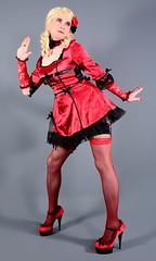 107H6L (klarissakrass) Tags: sexydress burlesque pumps heels highheels fishnets stockings pleaser sexylegs legfashion crossdress gurl transgender maryjanes pinup gloves