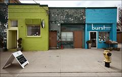 three_coloured_brick_buildings_01_8773086511_o (wvs) Tags: downtown toronto bulding skyscraper texture brick reflection glass street ontario canada