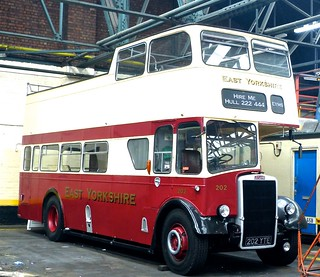 202 YTE 'East Yorkshire Motor Services' No. 202. Leyland PD2/37 / East Lancs on Dennis Basford's railsroadsrunways.blogspot.co.uk'