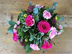 BOEKETJE VAN MIJN ZUS    MY SISTER BROUGHT ME FLOWERS (Anne-Miek Bibbe) Tags: boeket bloemen roze pink rosa rose bloei flowers flor flores bloom blumen fleur fleurs fiori fioritura annemiekbibbe bibbe nederland 2018 appleiphone6splus