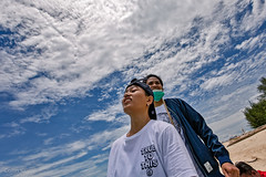 up (Collin Key) Tags: sulawesi clouds gorontalo sky girls island indonesia saronde texture kwandang indonesien id