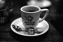 Hoshino Coffee (RunnyInHongKong) Tags: kodaktmaxdeveloper kodaktrix400 nikonf6 opticfilm120 japan push2stops selfdevelop blackwhite minatoku tokyo 35mm film vuescan