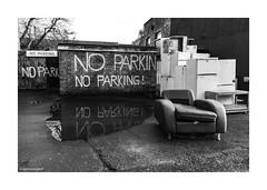 Deptford No Parking © (wpnewington) Tags: southlondon noparking deptford dumped fridges reflection puddle london monochrome bw