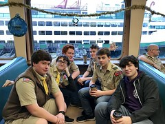 Members of the Boy Scouts of America (WSDOT) Tags: jf wsf washington ferries washingtonstateferries afect ferry employees charitable trust activeferryemployeescharitabletrust dshs departmentofsocialandhealthservices department social health services fircrest fircrestresidentialhabilitationcenter spokane volunteer volunteers colman dock seattle colmandock elliottbay holiday cruise boy scouts america boyscouts
