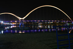 Infinity Bridge Thornaby-on-Tees (jamesdavidboro2) Tags: infinitybridge teeside rivertees canon eos thronaby stocktonintees bridges neon