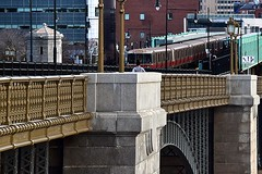 At the MGH Station (AntyDiluvian) Tags: boston massachusetts river charlesriver bridge longfellowbridge mbta t subway station redline train mghcharlesstation massachusettsgeneralhospital charlesstreet charlescircle