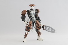 Kaiyzo (Ron Folkers) Tags: lego bionicle moc brown white black swords weapons custom