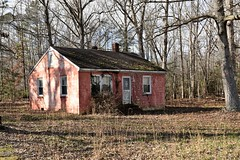 Another Pink House? (donnacurrall) Tags: shabby ruins untended neglected vacated vacant rejected forsaken forgotten disused desolate deserted derelict moldy moldering mildewy disintegrating decomposing degenerated crumbled corroded deteriorated empty abandoned decay dilapidated old houses