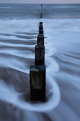 Land of a thousand stances (PeskyMesky) Tags: aberdeen aberdeenbeach longexposure groyne water sea ocean beach scotland sand canon canon5d eos