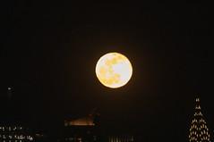 The Full Wolf Moon rises next to the Chrysler Building on Jan. 21, 2019. (apardavila) Tags: chryslerbuilding esb empirestatebuilding fullwolfmoon hoboken manhattan martinlutherkingjrday nyc newyorkcity fullmoon moon moonphoto moonphotography moonrise night nightphoto nightphotography skyline skyscraper