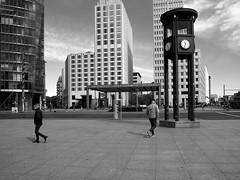 Different directions (Franco & Lia) Tags: street fotografiadistrada photographiederue strasenfotografie berlin berlino germany germania deutschland potsdamerplatz bahnhof biancoenero schwarzundweiss noiretblanc blackwhite