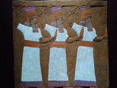 UK - London - Bloomsbury - British Museum - Relief - Sebetti gods from throne room in north palace in Ninevah in Assyria (JulesFoto) Tags: uk england london britishmuseum assyria sculpture