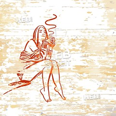Vintage girl drinking coffee on wooden background (Hebstreits) Tags: adult art background beautiful beauty book cafe cartoon coffee coloring comic cup design dot drawing drink drinking elegance elegant espresso face fashion female friends girl hair halftone hand holding hot illustration lady modern morning people person pop portrait poster restaurant retro sexy silhouette style tea vector vintage white woman young